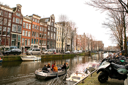Amsterdam, The Netherlands, January 2, 2017: Everyday life in Amsterdam. Lifestyle.