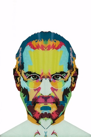 Christmas Island, Australia, May 20, 2018: an illustration in the art style in the form of a mosaic Steve Jobs - a talented person and the founder of the international corporation Apple Redakční