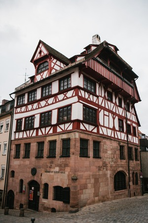 albrecht: Germany, Nuremberg, December 27, 2016: Albrecht Durers House. A famous building in the city. Sight.
