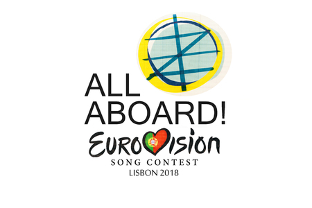 illustration on white background Eurovision Song Contest 2018 Lisbon