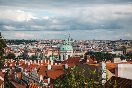 Beautiful view of the architecture of Prague in the Czech Republic. Prague is one of the most favorite places to visit tourists from all over the world