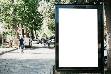 An empty billboard for outdoor advertising. Street advertising Reklamní fotografie