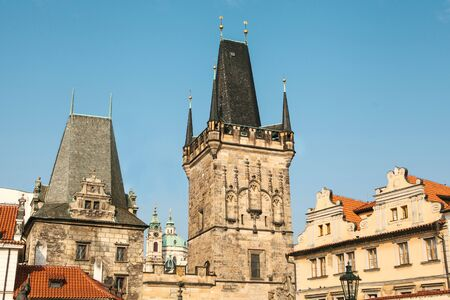 Beautiful view of the old architecture in Prague in the Czech Republic. 版權商用圖片