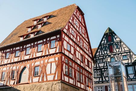 Traditional residential buildings in Bavaria in Germany.