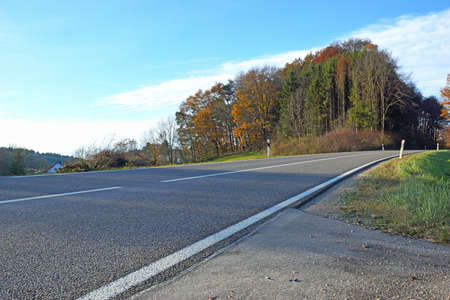 blacktop: Country road tarred