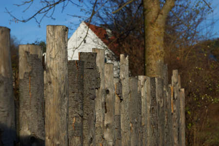 Old weathered wooden fence