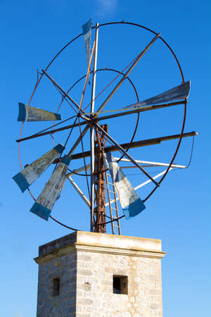 Windmill for Water Pump Archivio Fotografico