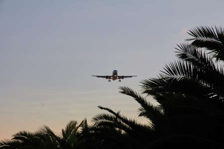 Aircraft at Approach to Ibiza Airport