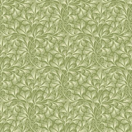 手描き下ろしのビクトリア朝のシームレスな壁紙パターン  イラスト・ベクター素材
