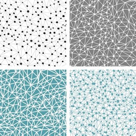 constellation: Abstract hand drawn seamless pattern - galaxy, star constellation