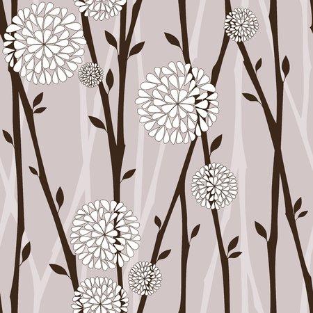 Las ramas y las flores blancas - sin patrón