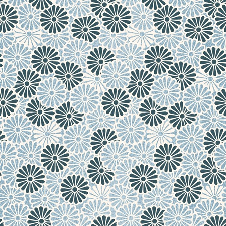Vintage Japanese seamless flower pattern Illustration