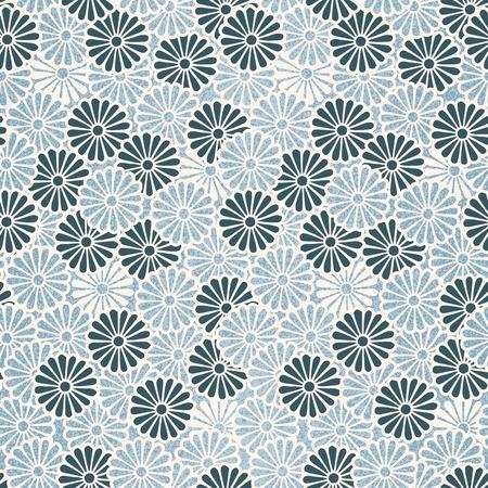 Vintage Japanese seamless flower pattern Illustration
