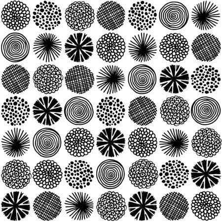 Doodle circle pattern