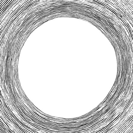 linearly: Abstract water circle textframe Illustration