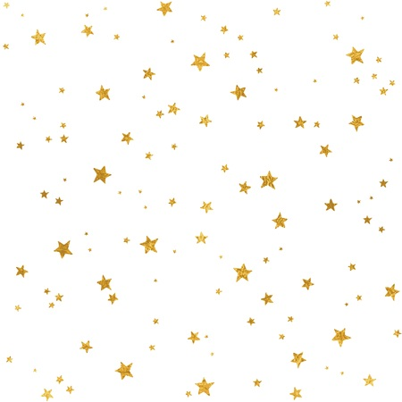 Seamless pattern with gold foil stars for Christmas (or other occasions) Stock Illustratie