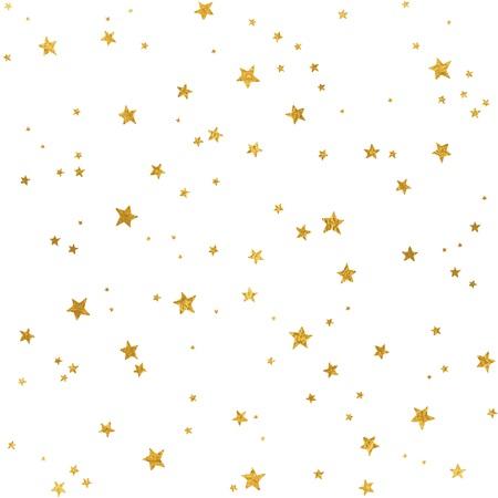 Naadloos patroon met bladgoud sterren voor Kerstmis (of andere gelegenheden) Stock Illustratie