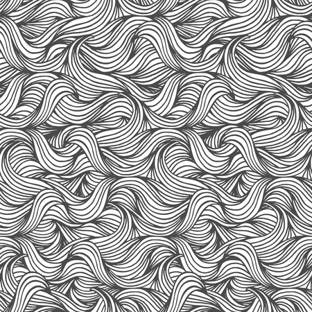 Hand drawn seamless pattern in black and white