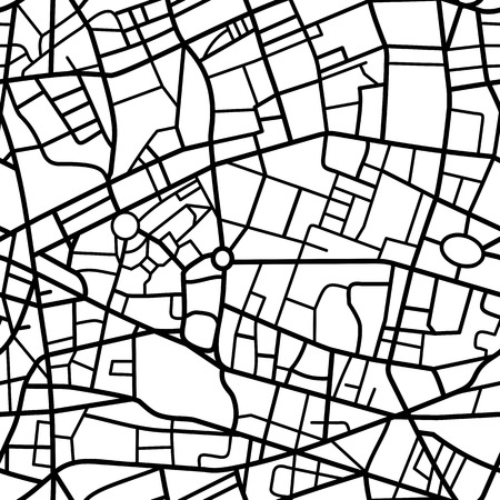 Abstract seamless pattern of a fictional city map
