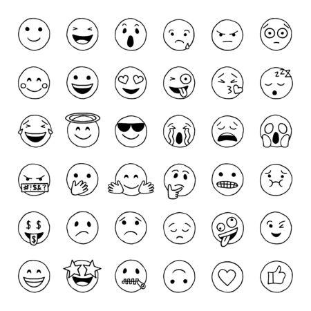 Handgezeichnetes Gekritzel-Emoji