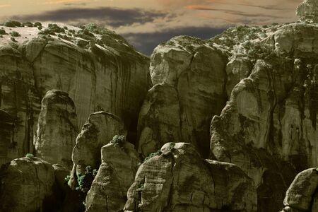 meteora: Impressions Greece Meteora Stock Photo