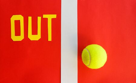 writing out tennis indicates that the ball has not touched the line Stock fotó