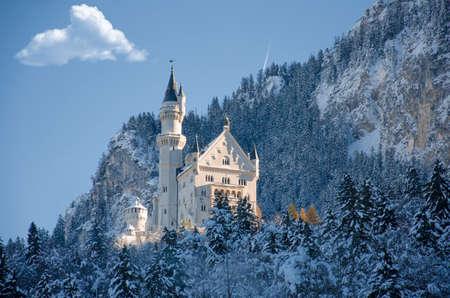 bavaria: Winter view of Castle Fussen, Bavaria, Germany