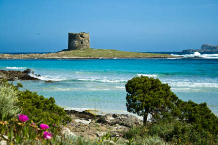 Italië Sardinië Stintino zeegezicht