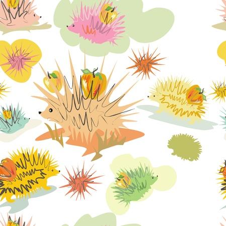 hedgehogs wallpaper Vector