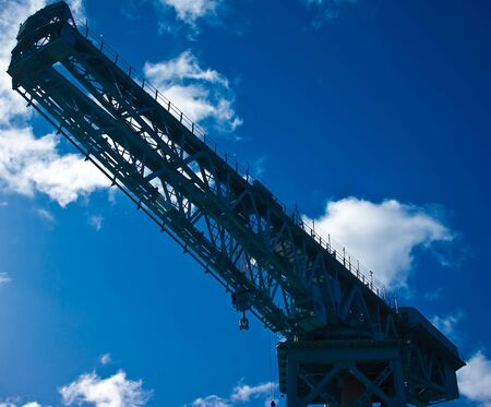 titan: Looking up at Titan crane, Clydebank from ground level