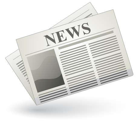 artikelen: Vector krant icon Stock Illustratie