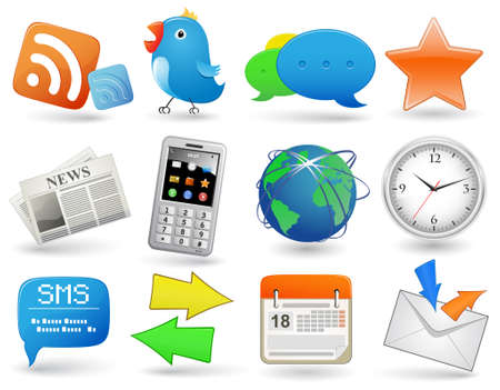 Universal website icon set Stock Vector - 5529451