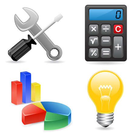 Tools icons for website Vector
