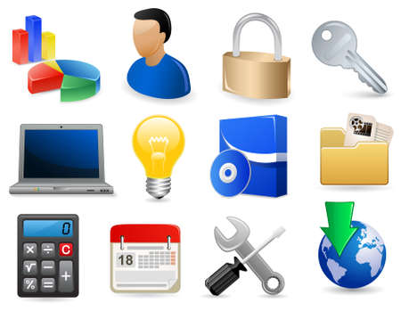 laptop repair: Conjunto de iconos de sitio Web de software