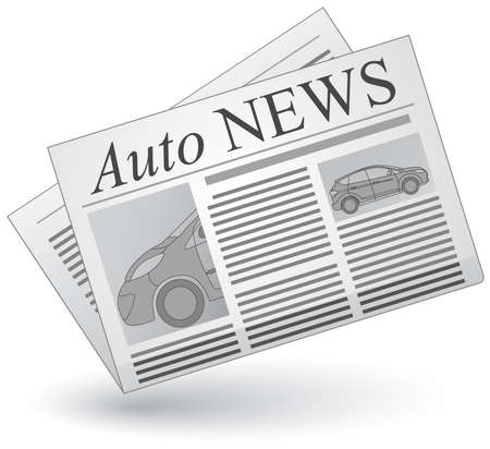 articles: Auto news. Vector illustration of cars news icon. Illustration