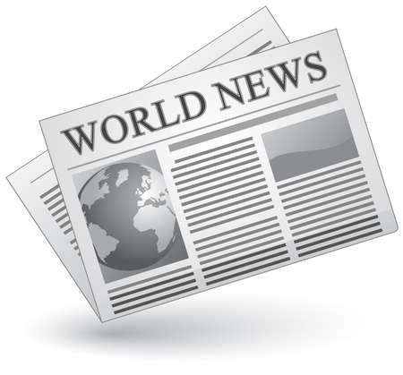 articles: Global news concept. Vector illustration of world news icon.