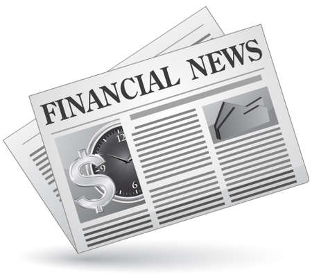 newspaper articles: Financial news. Vector illustration of financial news icon.