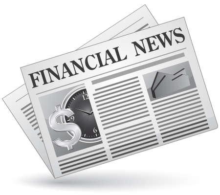 Noticias financieras. Ilustración vectorial del icono de noticias financieras.