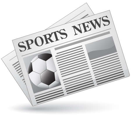 newspaper articles: Sports news concept. Vector illustration of sports news icon.