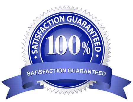 zufriedenheitsgarantie: 100 % Zufriedenheit garantiert anmelden Illustration