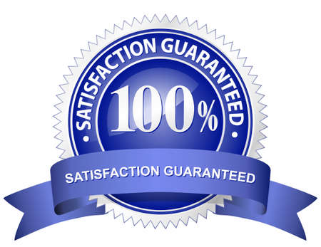 seal of approval: 100% Satisfaction Guaranteed Sign
