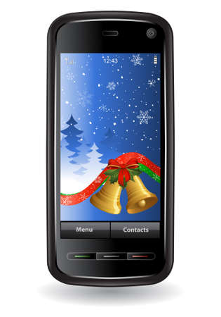 Christmas cell phone Stock Vector - 6014615