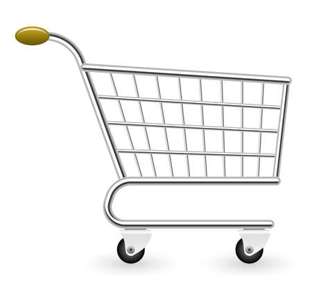 Vector illustration of empty shopping cart Vector