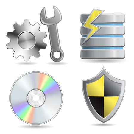 Web Hosting Icon Set. Stock Vector - 6219222