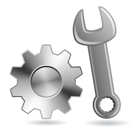 clé et des engins