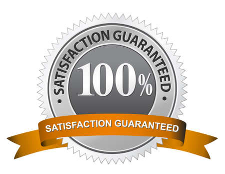 stamper: 100% Satisfaction Guaranteed Sign