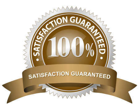 100% Satisfaction Guaranteed Sign Stock Vector - 6270806