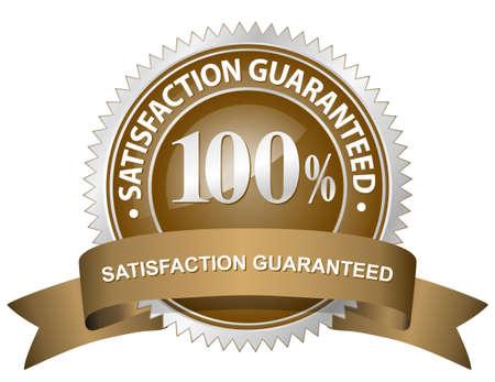 100% Tevredenheid gegarandeerd Sign