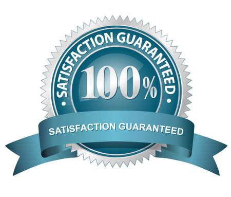 100% Satisfaction Guaranteed Sign Stock Vector - 6270823