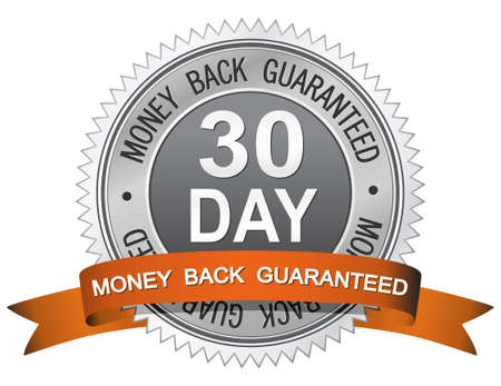 money back: 30 Day Money Back Guaranteed Sign Illustration